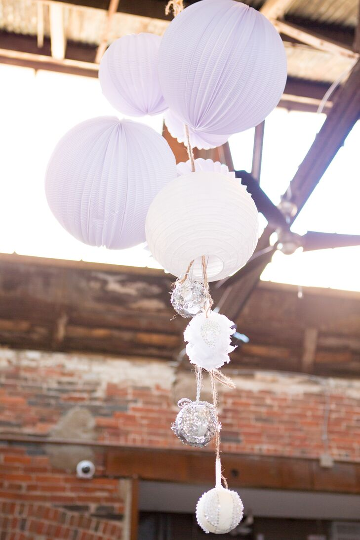 White Paper Lanterns Hanging from Ceiling
