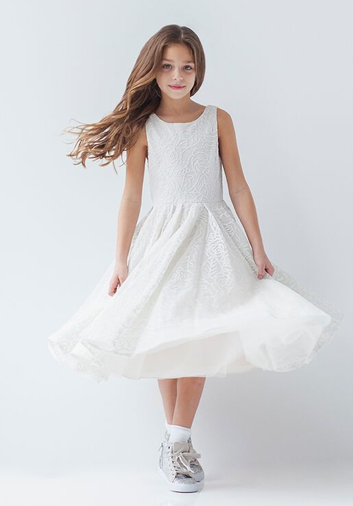 La Petite by Hayley Paige 5926-Rosey Ivory Flower Girl Dress