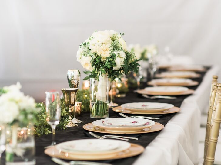 Incredible Simple Elegant Black And Gold Table Decorations Home Interior And Landscaping Elinuenasavecom