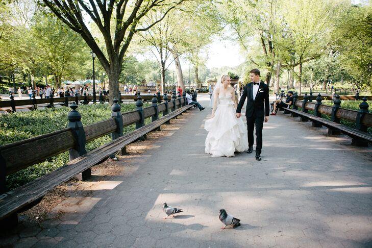 Black Groom's Tuxedo in Central Park
