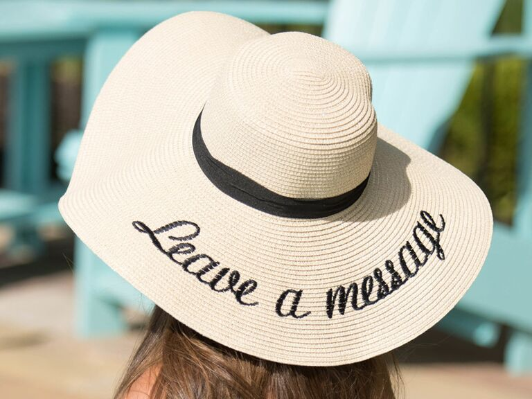 ​Pink Lily Leave a Message sun hat