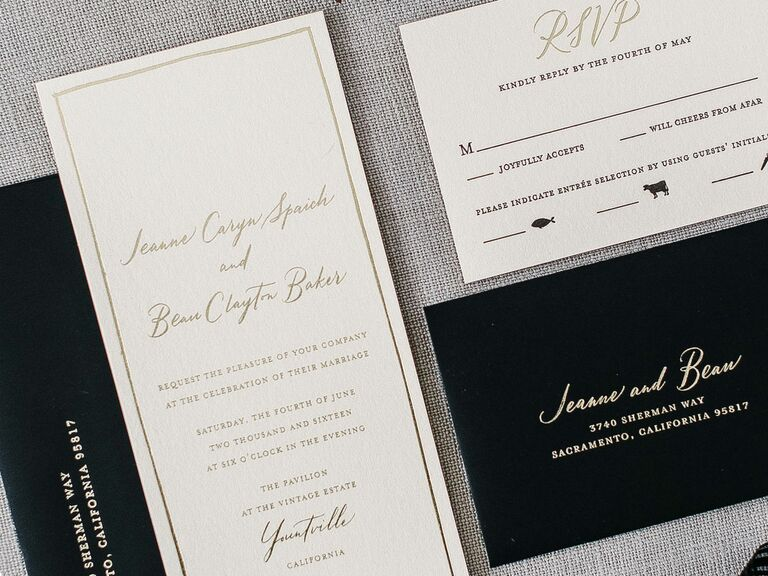 Formal Black And White Invitations