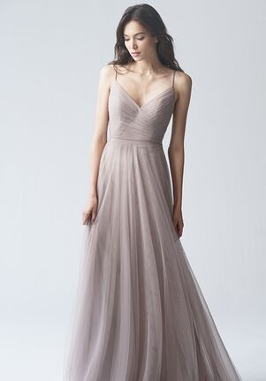 Jenny Yoo Collection (Maids) Brielle {non applique} #1756NB V-Neck Bridesmaid Dress