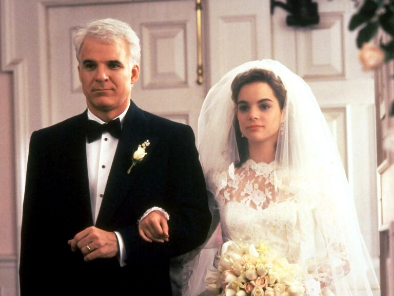 father of the bride movie walking down the aisle scene