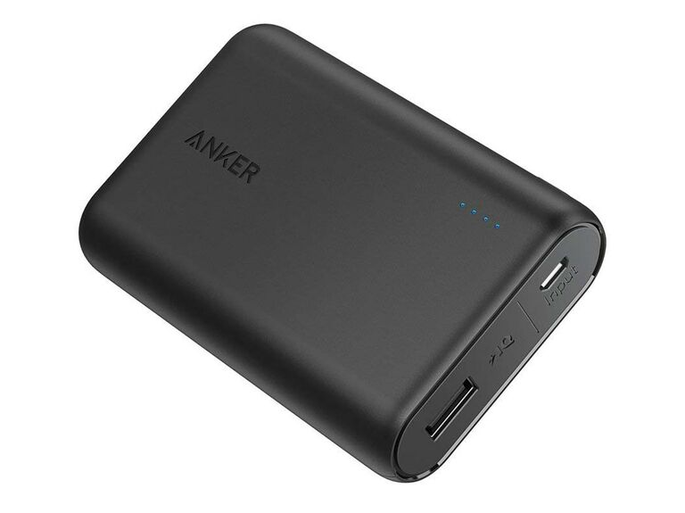 black portable phone charger
