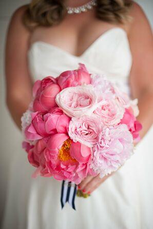 Lush Pink and Fuchsia Peony Bouquet