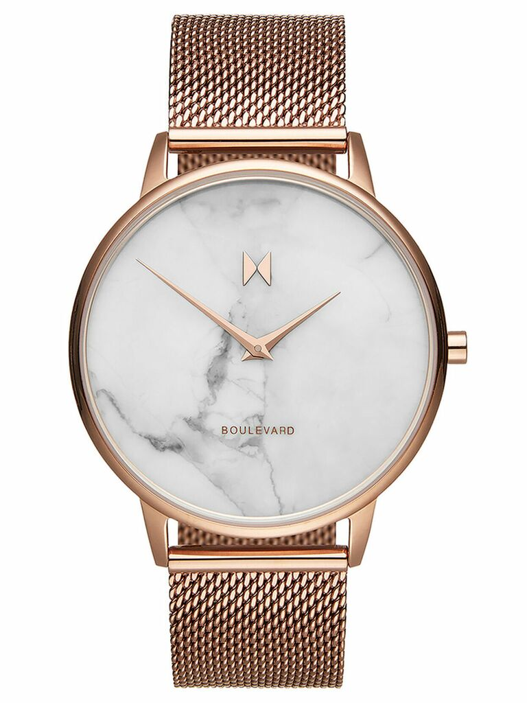 MVMT rose gold and marble watch gift for wife