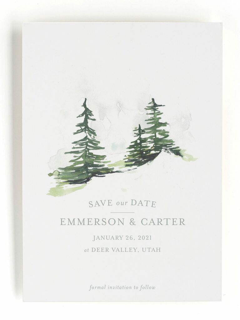 On The Slopes save-the-dates