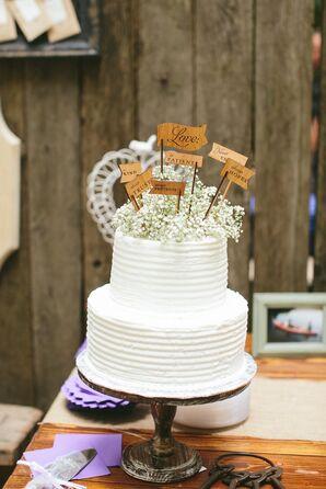 Two-Tier White Buttercream Cake