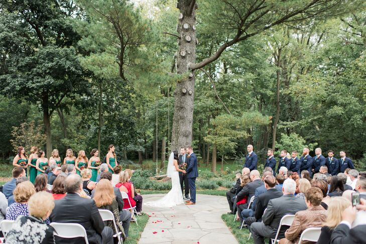 Outdoor Ceremony at the Bear Mill Estate in Denver, Pennsylvania