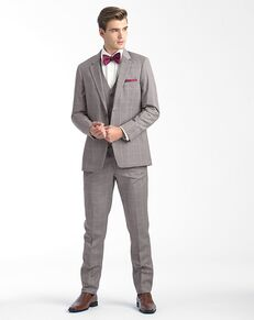 Allure Men Sandstone Window Pane Gray Tuxedo