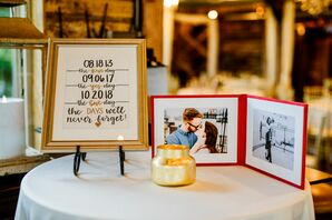 Calligraphed Sign and Photo Book