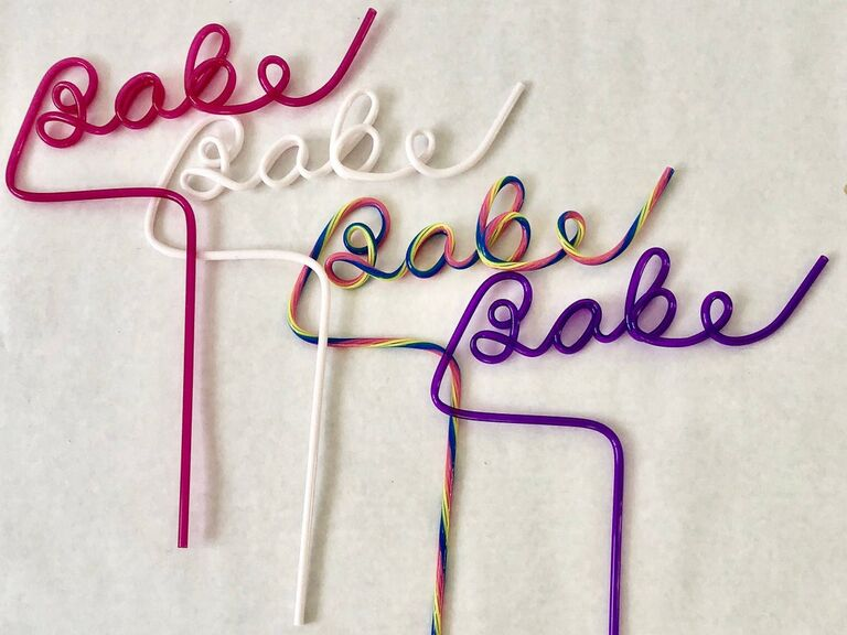 Babe bendy straw bachelorette party supplies