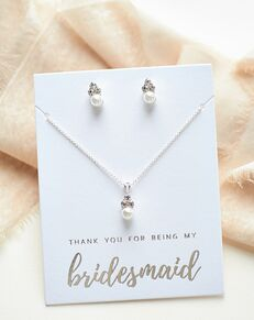 USABride Pretty Pearl Drop Bridesmaid Set (JS-509-BR) Wedding Necklace photo