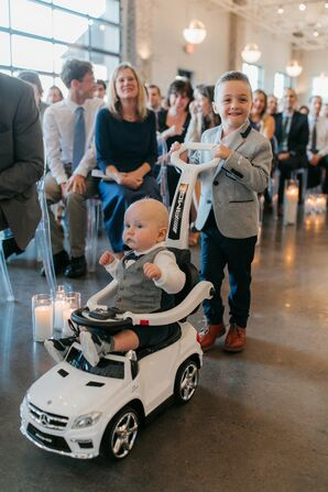 Ring Bearers for Wedding at Cherry Hall in Kansas City, Missouri