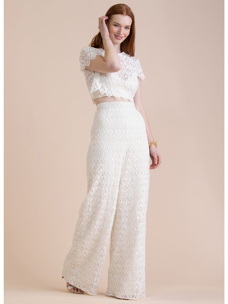 Willowby lace wedding separates crop top and pants