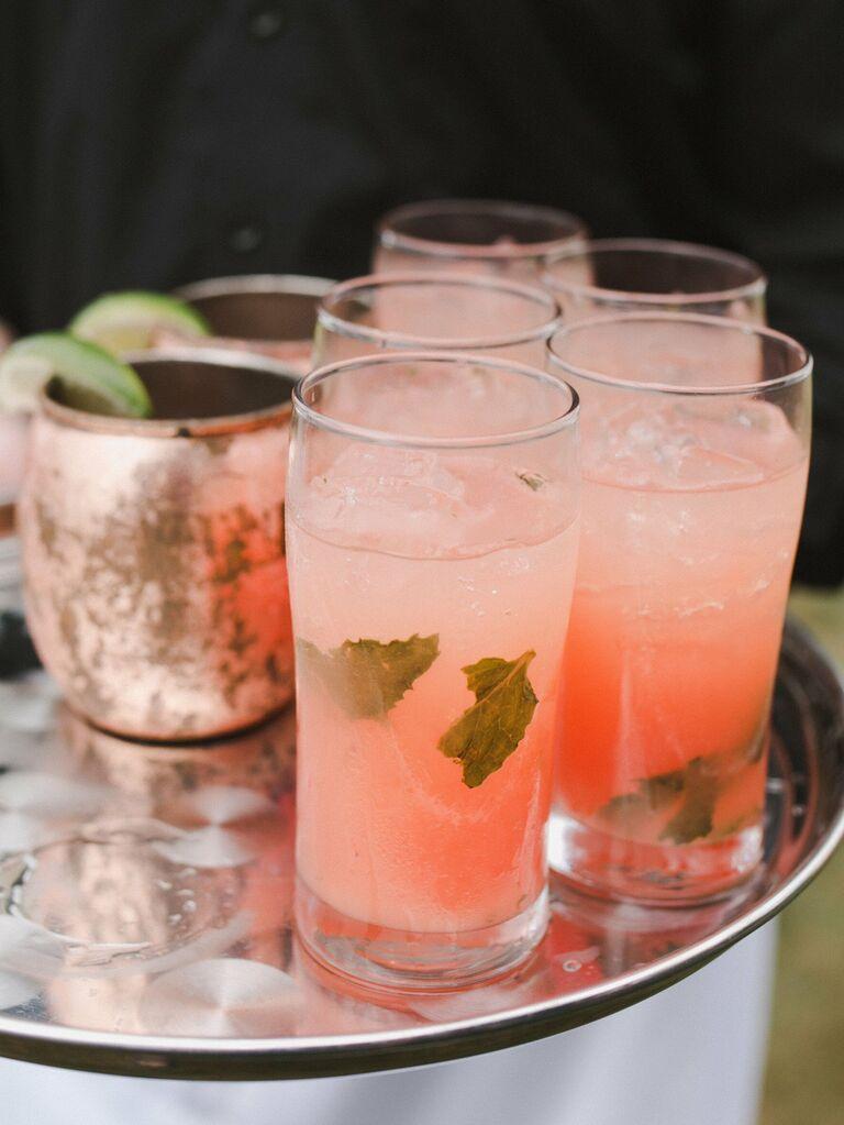wedding drink ideas berry mojito