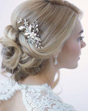 Dareth Colburn Petite Pearl & Floral Bridal Clip (TC-2276) Silver Pins, Combs + Clip