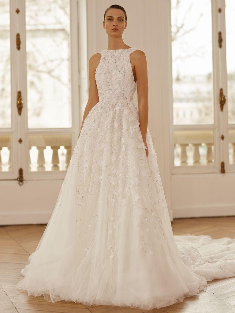 Dana Harel Spring 2020 Bridal Collection embellished A-line wedding dress