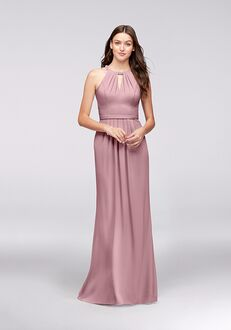 David's Bridal Collection David's Bridal Style F19672 Halter Bridesmaid Dress