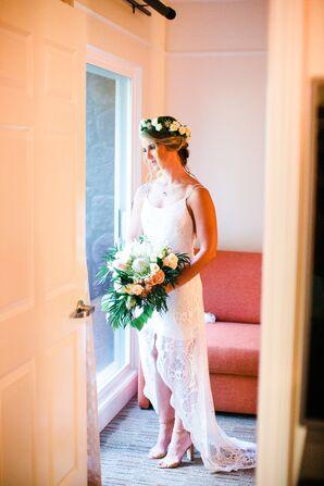 A Modern Dress for a Hawaiian Bride