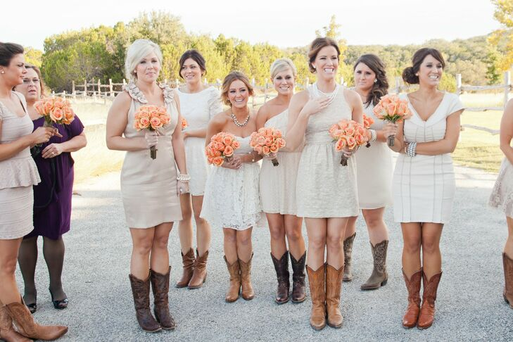 ea1dee4553f1e Bridesmaid Dresses with Cowboy Boots