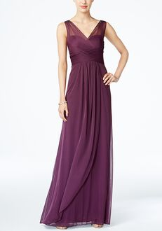 Adrianna Papell Adrianna Papell Ruched Embellished Gown Scoop Bridesmaid Dress