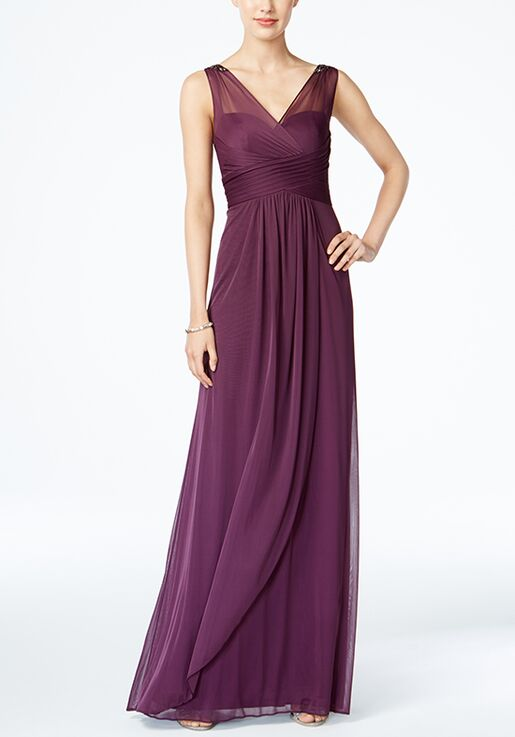 Adrianna Papell Adrianna Papell Ruched Embellished Gown Bridesmaid
