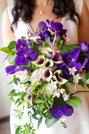 Purple Orchid and Calla Lily Bouquet