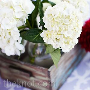 Red and White Centerpieces