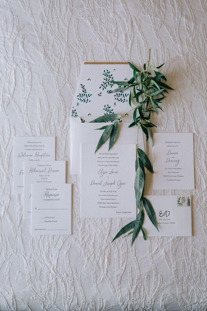 Classic Script Letterpress Invitations