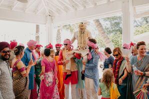 Hindu Fusion Wedding Celebration at the Sandbar Restaurant in Anna Maria, Florida