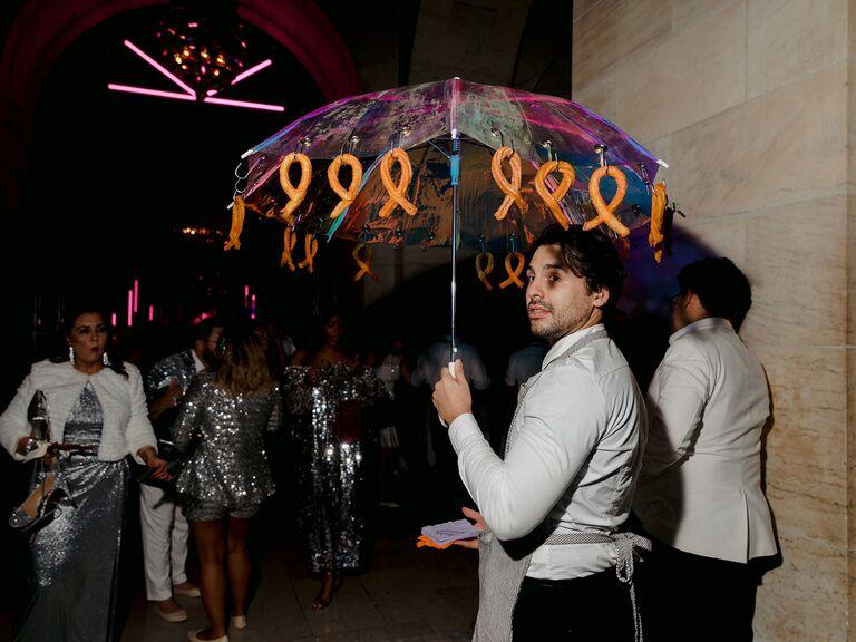 the knot gala churro umbrella pop-up