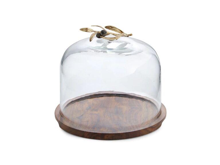 Domed server bridal shower gift idea