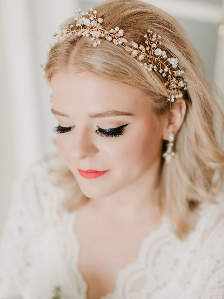 Wedding Hairstyles Pearled Headband