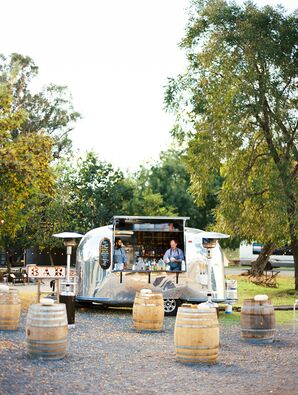 Rustic Airstream Bar Trailer at Ranch Wedding