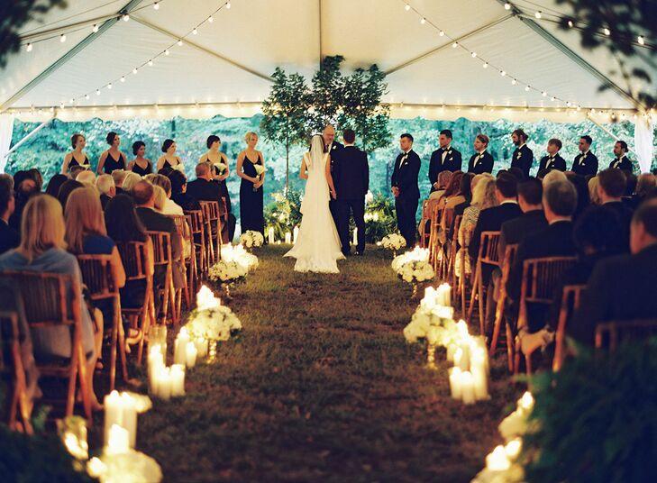 Romantic Candlelit Ceremony Aisle