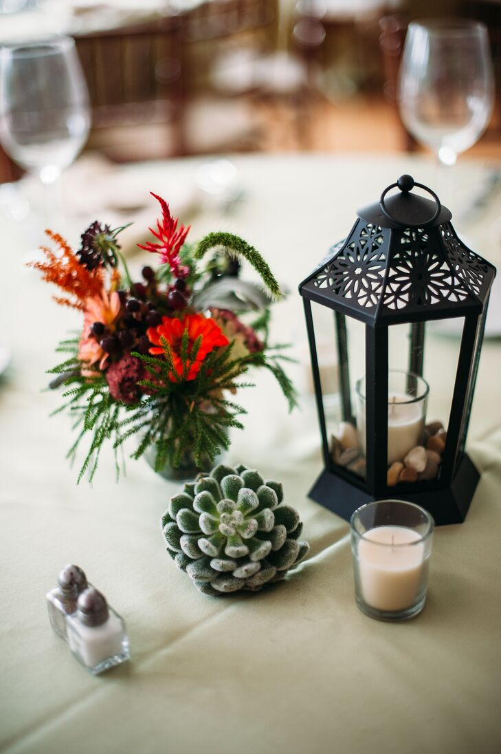 Garden Candle, Succulent and Flower Centerpieces