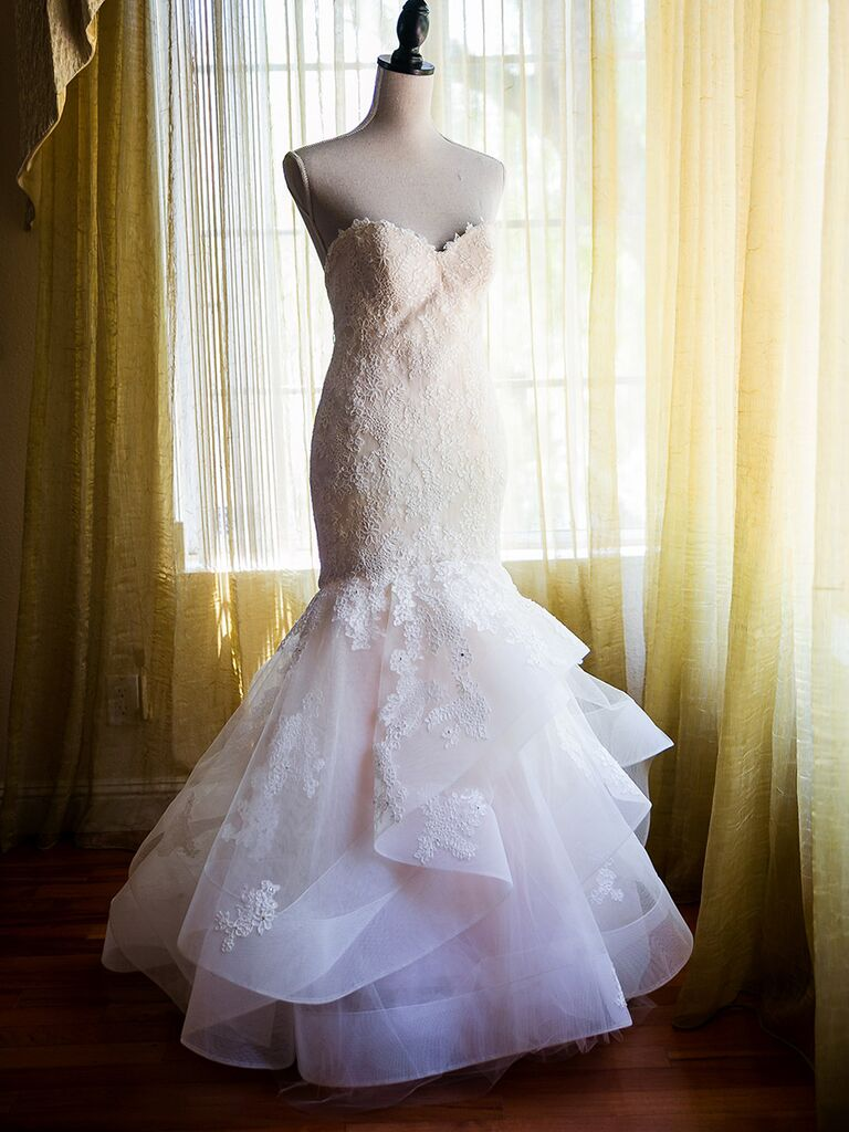 Classic wedding dress with timeless lace
