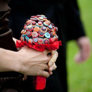 Button Bridesmaid Bouquet