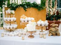 Vintage-Glam Dessert Table With Cupcakes, Cake and Cookies