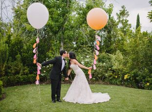 When a bride counts Kate Spade and Disney as inspiration for her wedding, it's practically guaranteed to be fun. Nancy Wong (25 and a fashion and beau