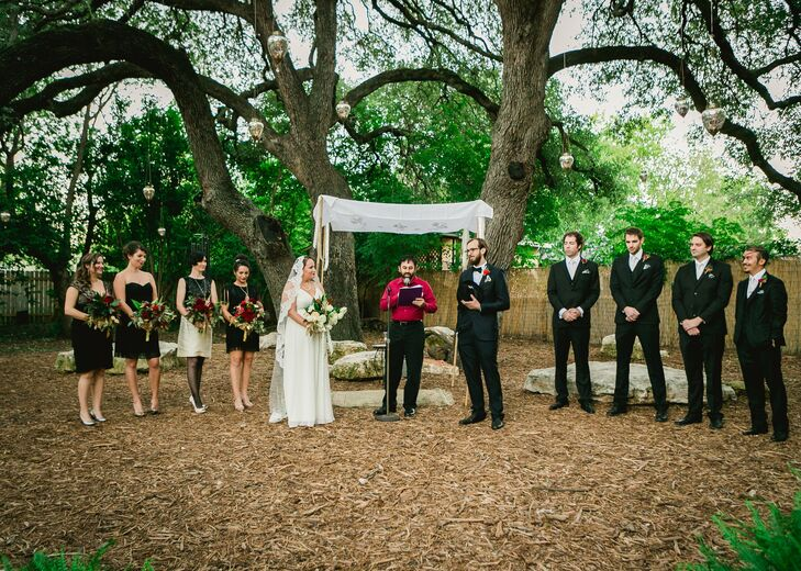 The couple exchanged vows in a simple outdoor ceremony at Vuka that was officiated by a close friend.