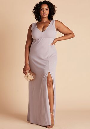 Birdy Grey Shamin Crepe Dress Curve in Lilac V-Neck Bridesmaid Dress