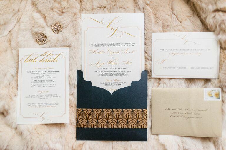 Luxe wedding invitation suite