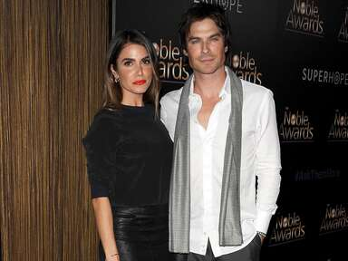 Nikki Reed and Ian Somerhalder pose together at an event