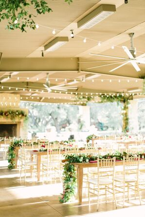 Outdoor Pavilion Reception Decor