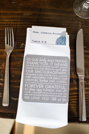 Contemporary Place Setting Thank-You Notes