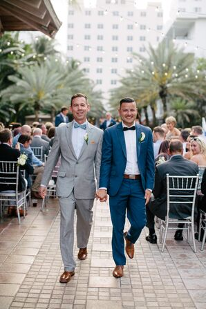 Chic Modern Gray and Navy Suits