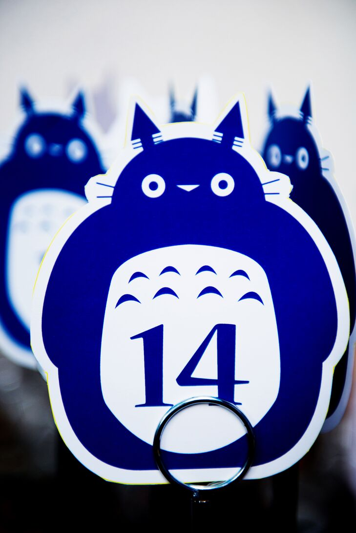 Blue Totoro Japanese Animation-Inspired Table Numbers